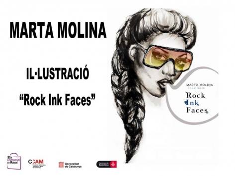 "Marta Molina  Ilustración  ""Rock Ink Faces"""